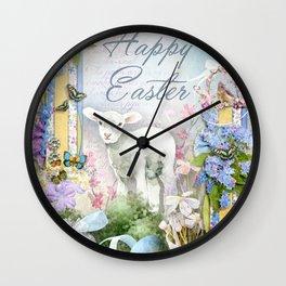 Easter Lamb Wall Clock