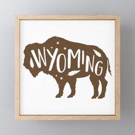 Wyoming Bison Framed Mini Art Print