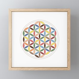 Flower of Life Retro Colors Framed Mini Art Print