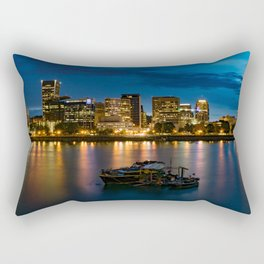 Still Night in Portland Rectangular Pillow