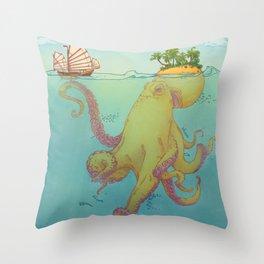 Oct'island Throw Pillow