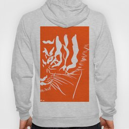 Eye Of The Tiger - Orange & White Hoody