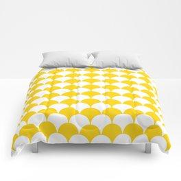 Fan Pattern 321 Yellow Comforters