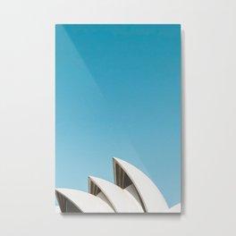 Sydney Opera House   Australia Minimalist Travel Photography Metal Print