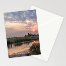 Sun Rising on the Okavango Delta Stationery Cards