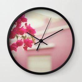 Bougainvillea Wall Clock