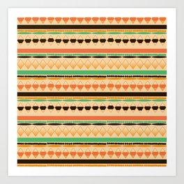 Aztec Geometric Art Print