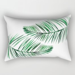 Tropical Exotic Palm Leaves Rectangular Pillow