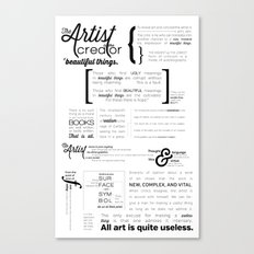 All art is quite useless. Canvas Print
