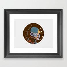 Headgear: Star-Lord comics Framed Art Print