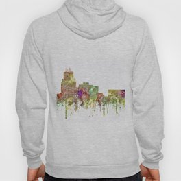 Durham,NC Skyline - Faded Glory Hoody