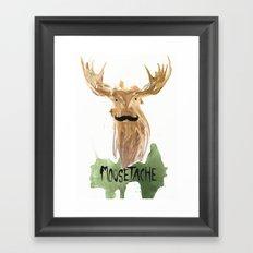 Moosetache Framed Art Print