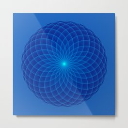 Blue and round Graphic Metal Print
