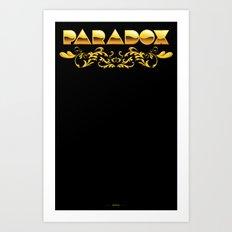 Golden Paradox Art Print