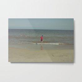 Myrtle Beach Beachgoer in Solitude Metal Print