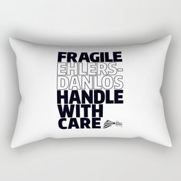 EDS Awareness - FRAGILE! Rectangular Pillow