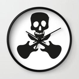 Guitar Skull Wall Clock