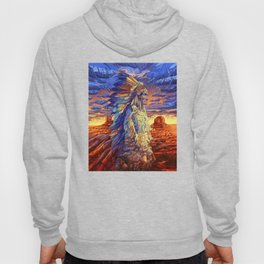 native american colorful portrait Hoody