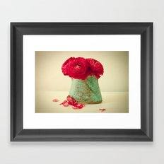 Red Petals Framed Art Print