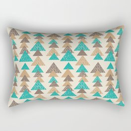 Abstract brown and turquoise pattern of triangels Rectangular Pillow