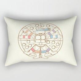 Vitruvian Turtle Rectangular Pillow