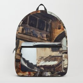 Indian Market Porbandar Gujarat Backpack
