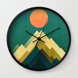Gold Peak Wall Clock