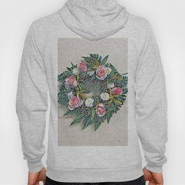 Rose Ring in pink, white, yellow and green Hoody