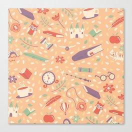 Read books pattern Canvas Print