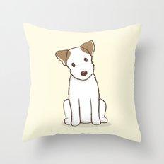 Custom Art Abby the JRT Illustration Throw Pillow