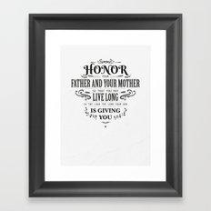 The Fifth Commandment Framed Art Print