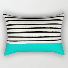 Aqua & Stripes Rectangular Pillow