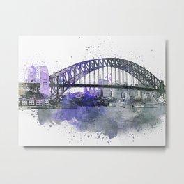 Sydney Harbor Bridge II Metal Print