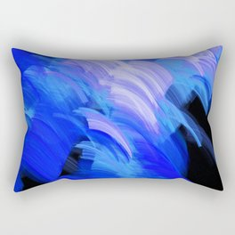 Abstract Broad Brushstrokes Design Rectangular Pillow