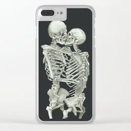 Valentine's Day: Skeleton Kiss Clear iPhone Case
