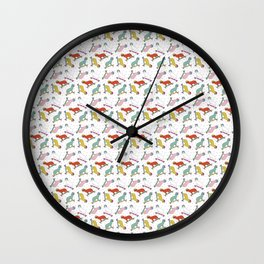 Cats and Confetti Wall Clock
