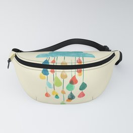 cloudy with a chance of rainbow Fanny Pack