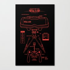 Virtual & Boy Canvas Print