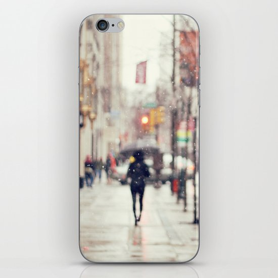 Snowing in the City iPhone & iPod Skin