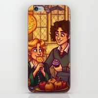 grantaire iPhone & iPod Skins featuring Hogwarts Halloween - Enjolras and Grantaire by juanjoltaire
