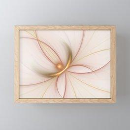 Nobly In Gold And Copper, Fractal Art Framed Mini Art Print