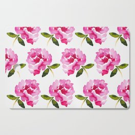 Pink Flower Cutting Board