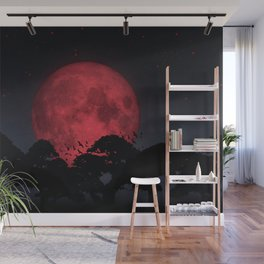 Red moon Wall Mural