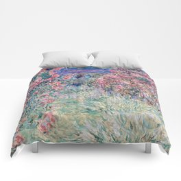 The House among the Roses by Claude Monet Comforters