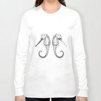 sea horse Long Sleeve T-shirts featuring Sea horse by Ilya kutoboy