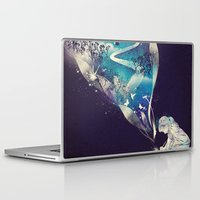 skull Laptop & iPad Skins featuring Dream Big by dan elijah g. fajardo