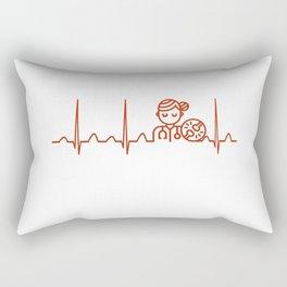 Therapist Heartbeat Rectangular Pillow