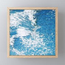 Hard Water Waves Abstract #watercolor #artprints #society6 Framed Mini Art Print