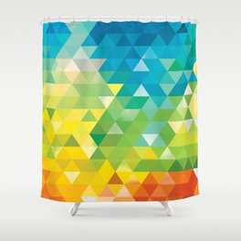 Triangle landscape Shower Curtain