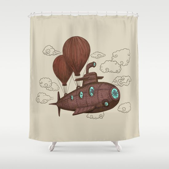 The Fantastic Voyage Shower Curtain